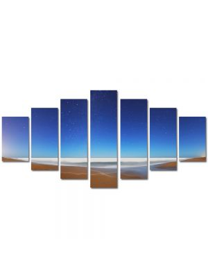 Set Tablouri Multicanvas 7 Piese Peisaj Apar stelele