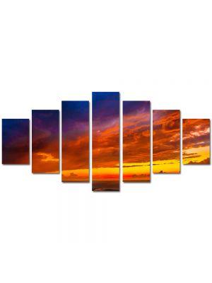 Set Tablouri Multicanvas 7 Piese Peisaj Culori la apus