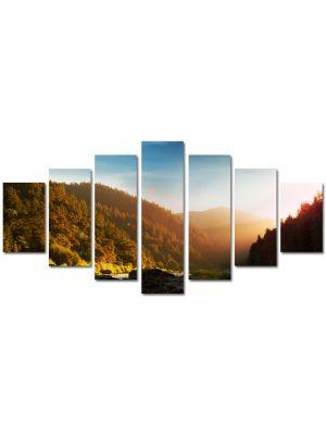 Set Tablouri Multicanvas 7 Piese Peisaj In ceata