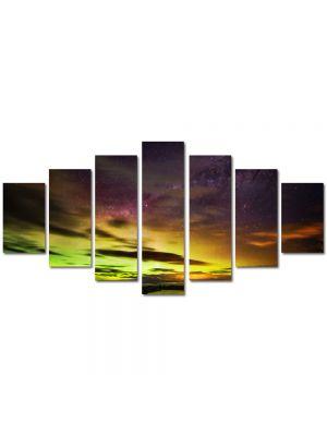 Set Tablouri Multicanvas 7 Piese Peisaj Apus in nord