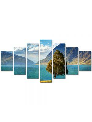 Set Tablouri Multicanvas 7 Piese Peisaj Copacel pe stanca