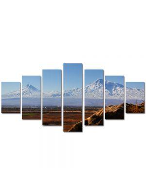 Set Tablouri Multicanvas 7 Piese Peisaj Munti in departare