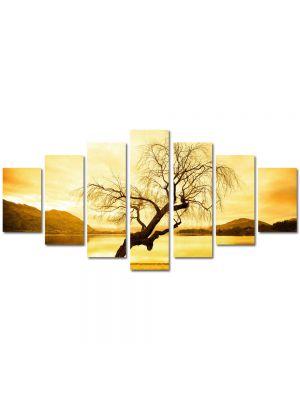 Set Tablouri Multicanvas 7 Piese Peisaj Peisaj galbui