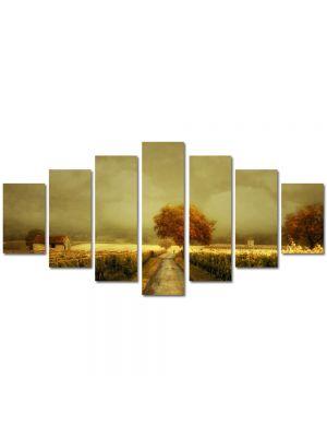 Set Tablouri Multicanvas 7 Piese Peisaj Pictura contemporana