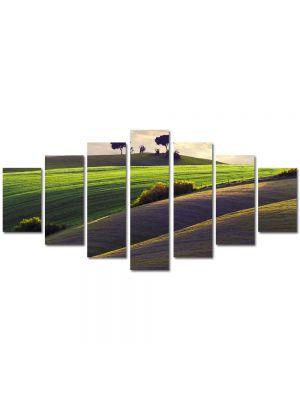 Set Tablouri Multicanvas 7 Piese Peisaj Campiute