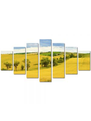 Set Tablouri Multicanvas 7 Piese Peisaj Sirag de copaci