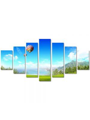 Set Tablouri Multicanvas 7 Piese Peisaj Balon
