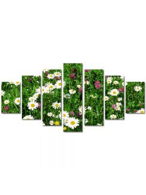 Set Tablouri Multicanvas 7 Piese Peisaj Flori diverse