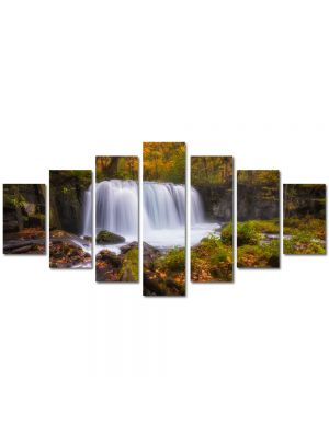 Set Tablouri Multicanvas 7 Piese Peisaj Cascada zgomotoasa