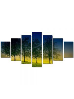 Set Tablouri Multicanvas 7 Piese Peisaj Patru Copaci