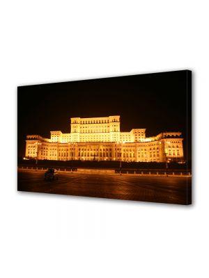 Tablou VarioView MoonLight Fosforescent Luminos in Urban Orase Palatul Parlamentului Bucuresti