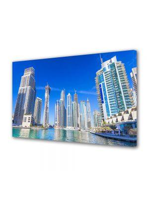 Tablou VarioView MoonLight Fosforescent Luminos in Urban Orase Cladiri in Dubai
