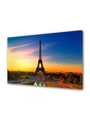 Tablou VarioView MoonLight Fosforescent Luminos in Urban Orase Turnul Eiffel Paris la Rasarit