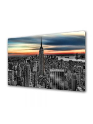 Tablou VarioView MoonLight Fosforescent Luminos in Urban Orase Empire State Building New York