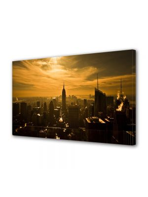 Tablou Canvas Panorama in New York la apus