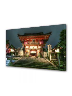 Tablou Canvas Luminos in intuneric VarioView LED Urban Orase Templu Japonez