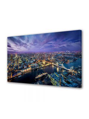 Tablou Canvas Luminos in intuneric VarioView LED Urban Orase Londra noaptea