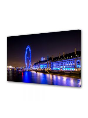 Tablou Canvas Luminos in intuneric VarioView LED Urban Orase Londra in noapte