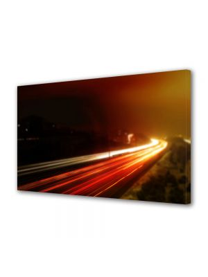 Tablou Canvas Luminos in intuneric VarioView LED Urban Orase Trafic pe sosea