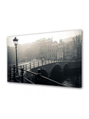 Tablou VarioView MoonLight Fosforescent Luminos in Urban Orase Amsterdam in ceata
