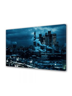 Tablou Canvas Luminos in intuneric VarioView LED Urban Orase Moscova noaptea