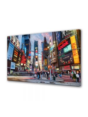 Tablou Canvas Luminos in intuneric VarioView LED Urban Orase Calatorind in New York