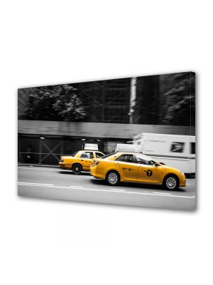 Tablou VarioView MoonLight Fosforescent Luminos in Urban Orase Taxi in New York