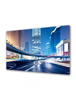 Tablou Canvas Luminos in intuneric VarioView LED Urban Orase Trafic de noapte