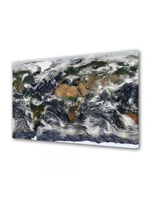 Tablou Canvas Harta lumii din satelit