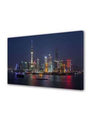 Tablou VarioView MoonLight Fosforescent Luminos in Urban Orase O noapte in Shanghai