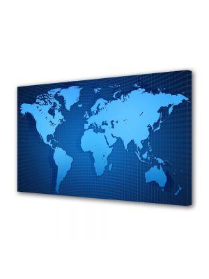 Tablou Canvas Harta lumii albastra