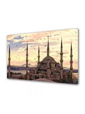Tablou VarioView MoonLight Fosforescent Luminos in Urban Orase Moscheea Sultan Ahmed Istanbul