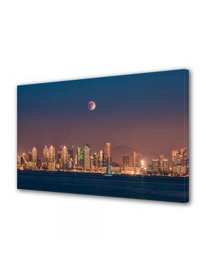 Tablou VarioView MoonLight Fosforescent Luminos in Urban Orase Eclipsa de luna in San Diego