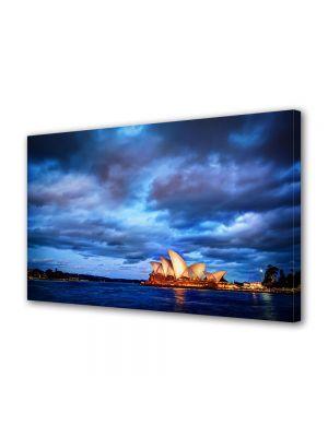 Tablou VarioView MoonLight Fosforescent Luminos in Urban Orase Opera din Sydney Australia la apus