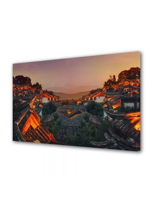 Tablou Canvas China la apus