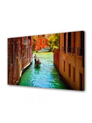 Tablou Canvas Pe canal in Venetia