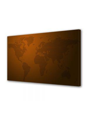 Tablou Canvas Harta lumii dungi