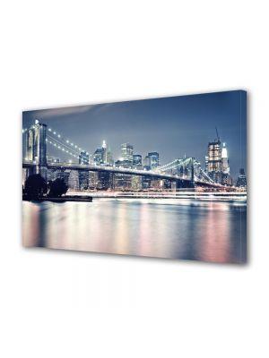 Tablou VarioView MoonLight Fosforescent Luminos in Urban Orase Podul Brooklyn noaptea New york