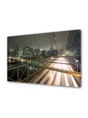 Tablou VarioView MoonLight Fosforescent Luminos in Urban Orase Pe podul Brooklyn in New York