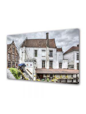 Tablou Canvas Casa alba in Belgia 60 x 90 cm - 41% reducere