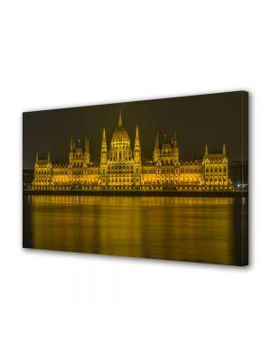 Tablou VarioView MoonLight Fosforescent Luminos in Urban Orase Parlamentul peste Dunare in Budapesta