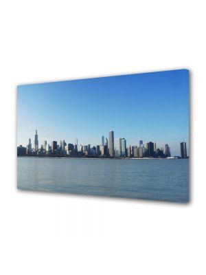 Tablou VarioView MoonLight Fosforescent Luminos in Urban Orase Chicago in departare