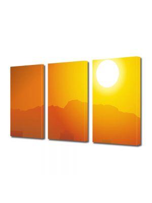 Set Tablouri Multicanvas 3 Piese Apus fierbinte