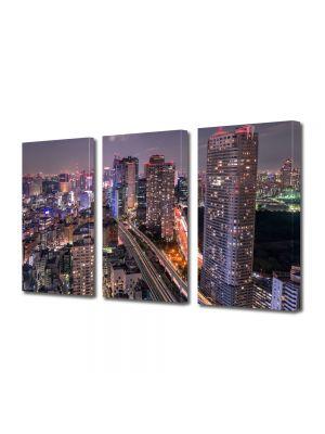 Set Tablouri Multicanvas 3 Piese Venele orasului