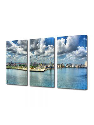Set Tablouri Multicanvas 3 Piese Panorama peste apa