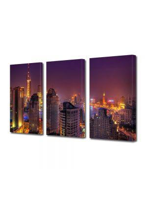 Set Tablouri Multicanvas 3 Piese Lumini colorate