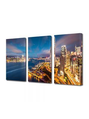 Set Tablouri Multicanvas 3 Piese Port in Hong Kong China