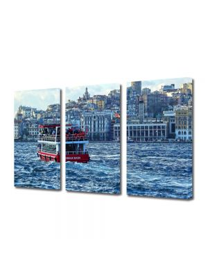 Set Tablouri Multicanvas 3 Piese Istanbul Turcia