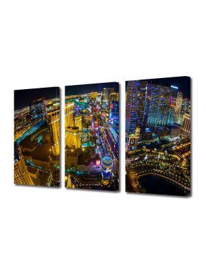 Set Tablouri Multicanvas 3 Piese Las Vegas SUA