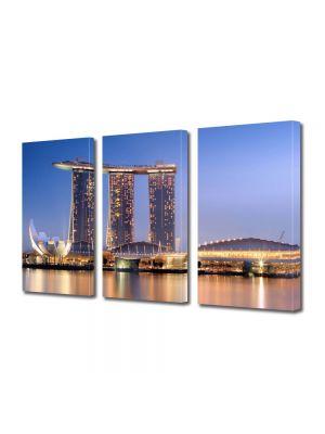 Set Tablouri Multicanvas 3 Piese Port in Singapore